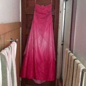 Dresses & Skirts - Hot pink formal/prom dress. 11/12. Has flaws!!
